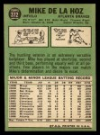 1967 Topps #372  Mike de la Hoz  Back Thumbnail