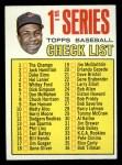 1967 Topps #62 B  -  Frank Robinson Checklist 1 Front Thumbnail