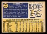 1970 Topps #409  Bobby Tolan  Back Thumbnail