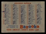1957 Topps #0 BAZ  Checklist - Series 1 & 2 Back Thumbnail