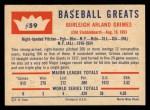 1960 Fleer #59  Burleigh Grimes  Back Thumbnail