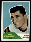 1960 Fleer #40  Jim Padgett  Front Thumbnail