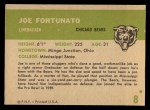 1961 Fleer #8  Joe Fortunato  Back Thumbnail