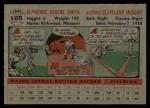 1956 Topps #105  Al Smith  Back Thumbnail