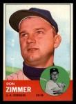 1963 Topps #439 xTOU Don Zimmer  Front Thumbnail