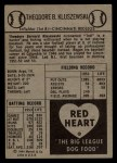1954 Red Heart  Ted Kluszewski    Back Thumbnail