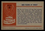 1954 Bowman Power for Peace #23   6000 Pounds of Thrust Back Thumbnail