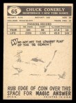 1959 Topps #65  Charley Conerly  Back Thumbnail