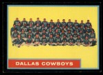 1962 Topps #49   Cowboys Team Front Thumbnail