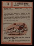 1962 Topps #113  Jerry Hillebrand  Back Thumbnail