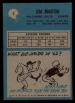 1964 Philadelphia #5  Jim Martin     Back Thumbnail