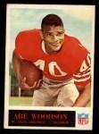1965 Philadelphia #167  Abe Woodson  Front Thumbnail