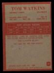 1965 Philadelphia #69  Tom Watkins  Back Thumbnail