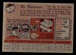 1958 Topps #57 ^WN^ Tim Thompson  Back Thumbnail