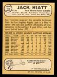 1968 Topps #419  Jack Hiatt  Back Thumbnail