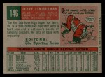 1959 Topps #146  Jerry Zimmerman  Back Thumbnail