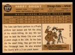 1960 Topps #277  Harry Bright  Back Thumbnail