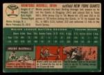 1954 Topps #3  Monte Irvin  Back Thumbnail