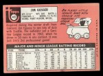 1969 Topps #482 WN Jim Gosger  Back Thumbnail