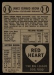 1954 Red Heart  Jim Hegan    Back Thumbnail
