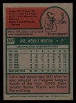 1975 Topps #237  Carl Morton  Back Thumbnail
