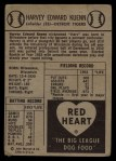 1954 Red Heart  Harvey Kuenn     Back Thumbnail