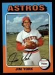1975 Topps #383  Jim York  Front Thumbnail