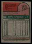 1975 Topps #245  Mickey Lolich  Back Thumbnail