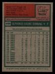 1975 Topps #498  Al Downing  Back Thumbnail