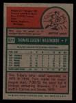 1975 Topps #377  Tom Hilgendorf  Back Thumbnail