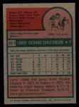 1975 Topps #551  Larry Christenson  Back Thumbnail