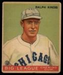 1933 Goudey #33  Ralph Kress  Front Thumbnail