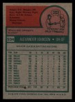 1975 Topps #534  Alex Johnson  Back Thumbnail