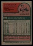 1975 Topps #330  Mike Marshall  Back Thumbnail