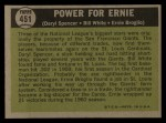 1961 Topps #451   -  Daryl Spencer / Bill White / Ernie Broglio Power for Ernie Back Thumbnail