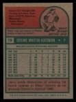 1975 Topps #19  Jerry Koosman  Back Thumbnail