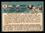 1965 Topps #344  Wes Parker  Back Thumbnail