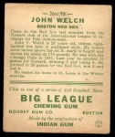 1933 Goudey #93  John Welch  Back Thumbnail