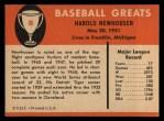 1961 Fleer #66  Hal Newhouser  Back Thumbnail