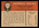 1961 Fleer #109  Mule Hass  Back Thumbnail