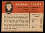 1961 Fleer #137  Hal Schmacher  Back Thumbnail