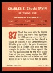 1963 Fleer #87  Chuck Gavin  Back Thumbnail
