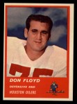 1963 Fleer #43  Don Floyd  Front Thumbnail
