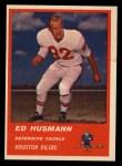 1963 Fleer #44  Ed Husmann  Front Thumbnail