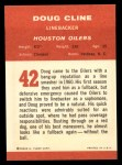1963 Fleer #42  Doug Cline  Back Thumbnail