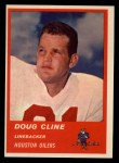 1963 Fleer #42  Doug Cline  Front Thumbnail