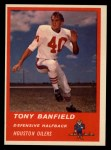 1963 Fleer #41  Tony Banfield  Front Thumbnail