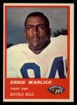 1963 Fleer #27  Ernie Warlick  Front Thumbnail