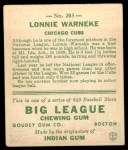 1933 Goudey #203  Lonnie Warneke  Back Thumbnail