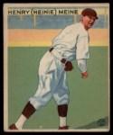 1933 Goudey #205  Heinie Meine  Front Thumbnail
